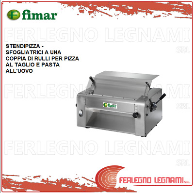 Dough Sheeters - Pizza Roller to a Pair of Rollers - Fimar with Engine 1PH SI520