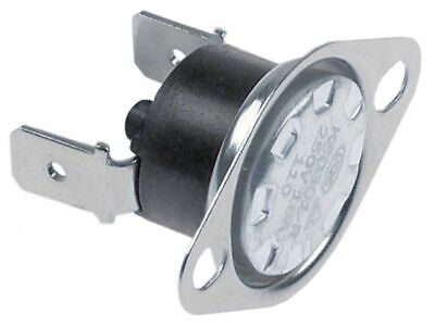 Bi-Metal Safety Thermostat Switch-Off Temp. 110°C 1Nc 1-Pole 16A Connection F6.3