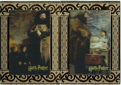World of Harry Potter 3D Series 1 Complete 2 Card Case Topper Set CT1 + CT2