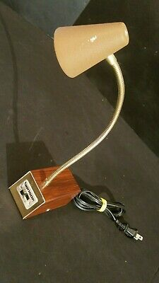 TESTED GOOD Vintage Small Mid Century Tensor Flexible Desk Lamp 7200 Cone Shade