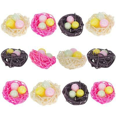 Set of 12 Glittered Foam Easter Ornaments in the Basket