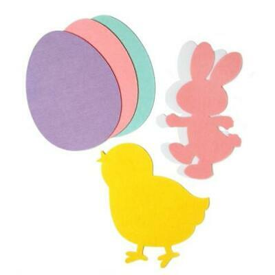 Set of 6 Felt Easter Decoration Cut Outs 12 Inches