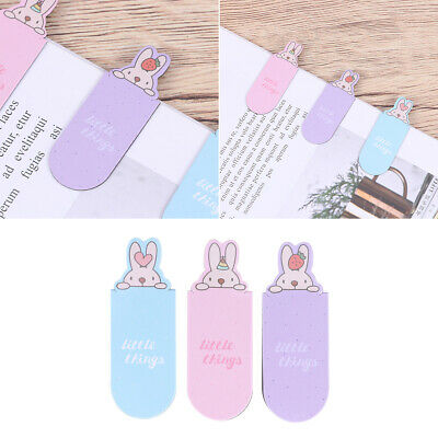 6PCS Rabbit Magnetic Bookmark Cartoon Book Mark Creative Book Marker for Student