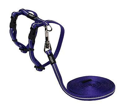 Rogz Catz Alleycat Lead And Harness, Extra Small, Purple