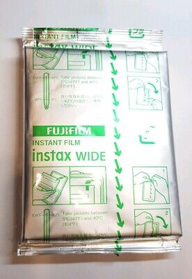GENUINE Fujifilm Instax Wide Film 10 Sheets SEALED, WITHOUT BOX EXP. 2021