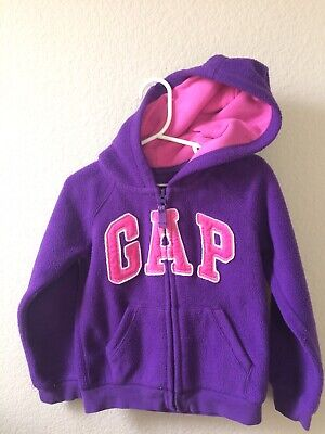 Baby Gap Pink And Purple Hoodie Size 4 Years Preowned zip Front