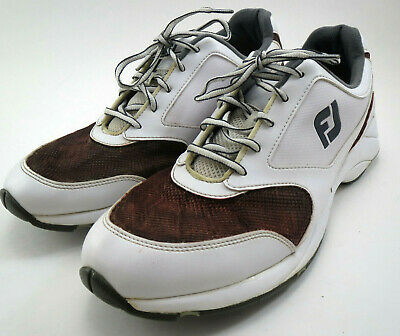 FootJoy Mens Athletics Golf Shoes 12 Style 56813 White Spikeless Breathable mesh