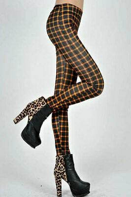465018 970-08-04805 Sexy leggings pantacollant disegno plaid Sexy Shop Nero e Ar