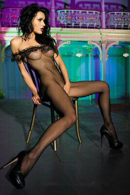 465018 970-02-BEA96085 Sexy Bodystockings in microrete e pizzo nero Sexy Shop 97