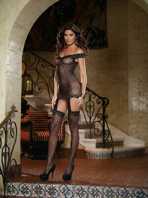 465018 970-02-H3029 Sexy Bodystocking in Rete e Pizzo Nero Sexy Shop TU 970-02-H