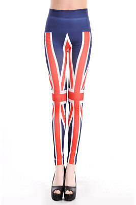 465018 970-08-LC79235 Leggings Bandiera Inglese Sexy Shop Taglia Unica 970-08-LC