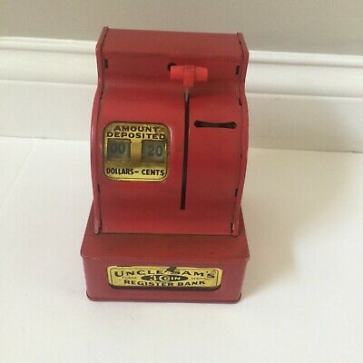 Uncle Sams three going register bank western stamping corp made in japan red