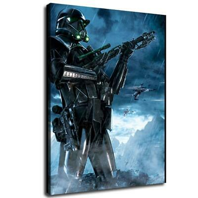 "12""x16"" one Death trooper HD Canvas prints Home Decor Wall art picture character"