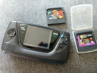 Sega Game Gear Model Handheld Console Black with 2 Games Tested Works