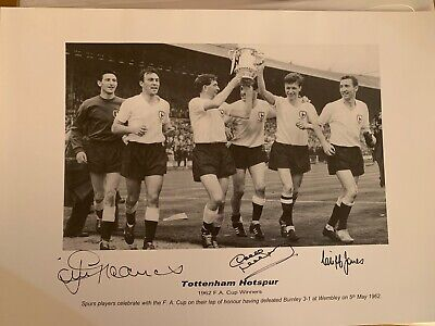 SPURS Legends THE GREAT DAVE MACKAY CLIFF JONES & JIMMY GREAVES Signed Photo £45
