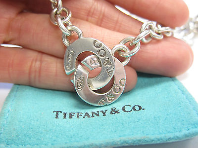 Tiffany & Co 1837 Circle Clasp Toggle Bracelet Sterling Silver 925