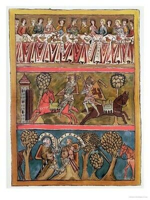 13th Century COLLECTION OF 3  Manuscript RE-PRODUCTION New
