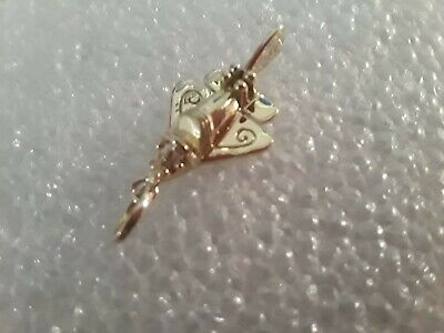 14 Kt Solid Gold Pre Columbian Airplane Pendant