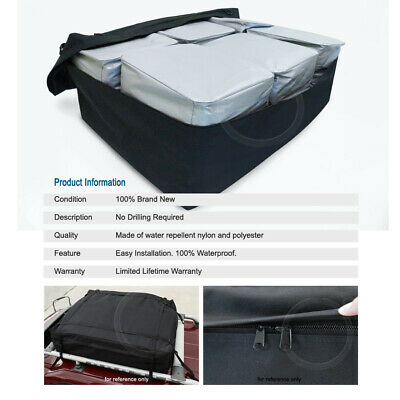 Rooftop Mount Waterproof Cargo Bag Expandable Travel Luggage Carrier For Ford