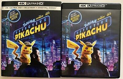 Pokemon Detective Pikachu 4K Ultra Hd Blu Ray 2 Disc Set + Slipcover Sleeve Buy