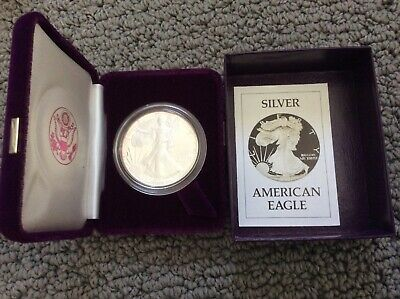 1986 S Walking Liberty SILVER American Eagle PROOF One Dollar Coin 1 Oz Silver