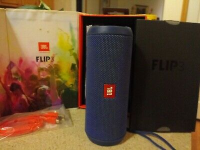 JBL Flip 3 Waterproof Portable Bluetooth Speaker (Blue) JBLFLIP3Blue