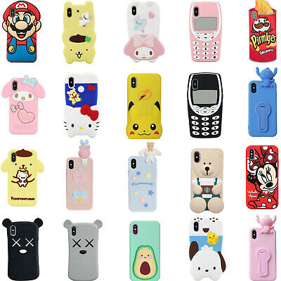 3D Cartoon Silicone Cover Case For iPhone 11 11 Pro Max 8 7 6 6S Plus XS Max XR
