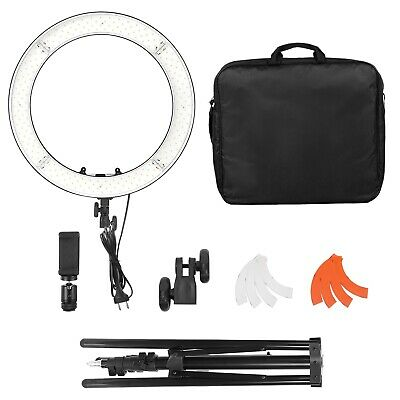"18"" LED Ring Light Kit with Stand Dimmable 3200K-5600K for Makeup Video Shooting"