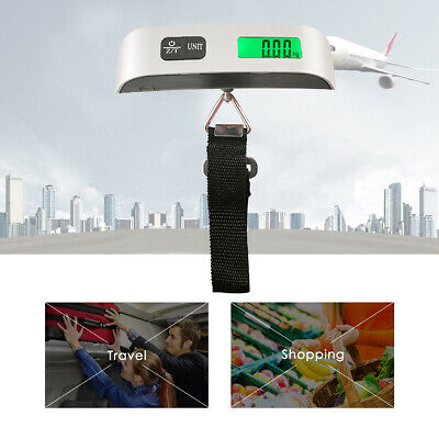 50KG Electronic Baggage Scale Portable Travel Suitcase Luggage Weight Scales New