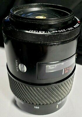 Minolta Maxxum AF Zoom 100-200 f4.5  lens pre owned good working condition