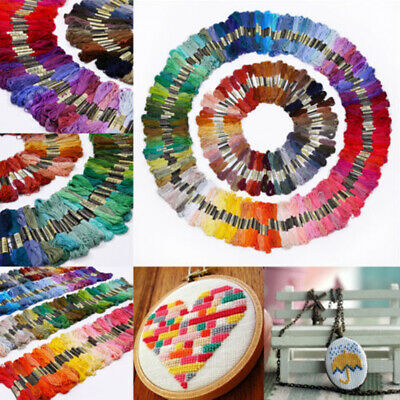 Needles Sewing Skeins Embroidery Thread Cross Stitch Floss Cotton Multi-Color