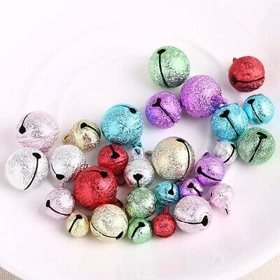 Multi-size 20Pcs Christmas Decorations for Home Colored Jingle Bell Craft
