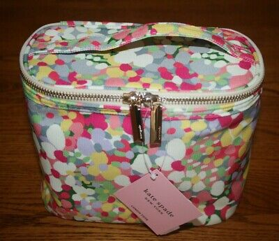 Kate Spade Floral Dot Insulated Lunch Tote Bag box cosmetic case pink yellow