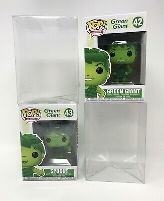 Funko Pop Ad Icons 42 and 43 Green Giant and Sprout Set With PopShield Protector