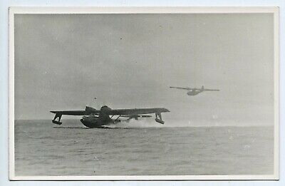 WW2 1940's RP NPU POSTCARD CATALINA NUMBER 21 IN AN AUSTRALIAN PORT/HARBOUR E33