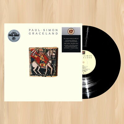PAUL SIMON Graceland (25th Anniversary) 180 gram VINYL LP SET with POSTER   0907
