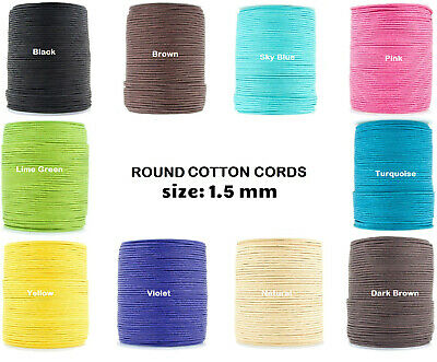 Xsotica-Waxed Round Cotton Cord 1.5 mm