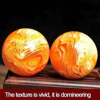 Home Decor Rare Natural Art Amber Beeswax Ball Crystal Sphere Gold_Healing_80g