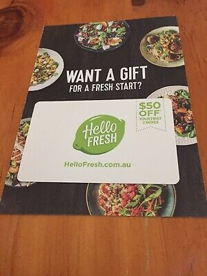 Hello Fresh Gift Card Save $50 - Meal Plans - Ready to Cook