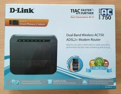 Dual Band Wireless AC750 ADSL2+ Modem Router