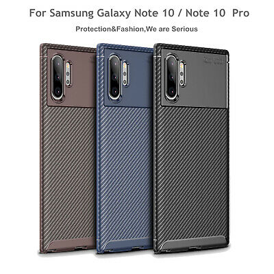 For Samsung Galaxy Note 10 /10 Plus Case Protective Carbon Fiber Rubber Cover