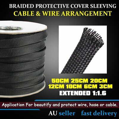 Ultra Expandable Braided Nylon PET Cable Braiding Sleeve Wiring Hose Cover Tube