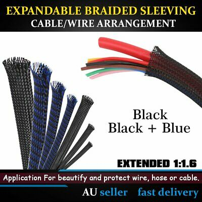 PET Cable Expandable Braided Braiding Wire Sleeving Covering Wiring Harnesses