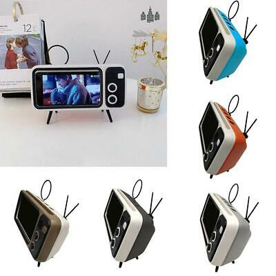 Retro Shaped Wireless Bluetooth Speaker With Mobile Phone Holder Portable
