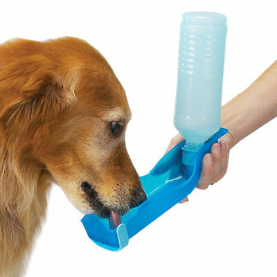 Portable Pet Dog Cat Outdoor Travel Water Bowl Bottle Feeder Drinking Fountain N