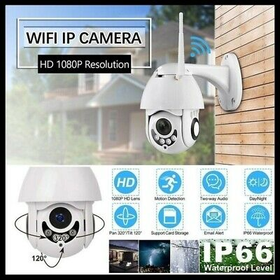 New IP Camera Onvif WiFi 2MP HD 1080P Wireless Speed Dome CCTV Exterior TF sJ