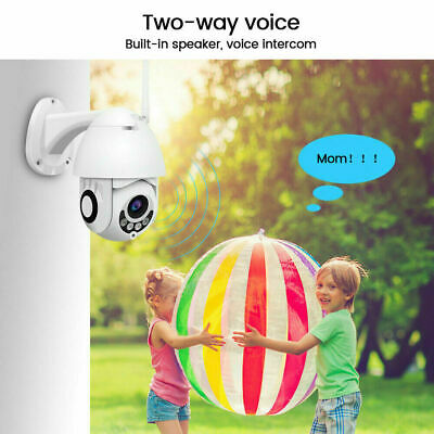 1080P Dome Outdoor WiFi Wireless Pan Tilt IP Camera ONVIF Video Surveillance 9U