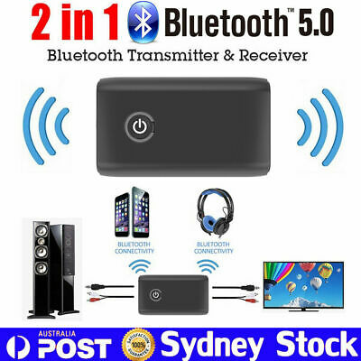 Bluetooth 5.0 Receiver Transmitter 3.5mm HD Audio Adapter For TV Headphones PC