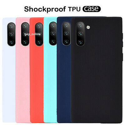 For Samsung Galaxy Note 10 Plus Slim Silicone Frosted Soft TPU Back Case Cover