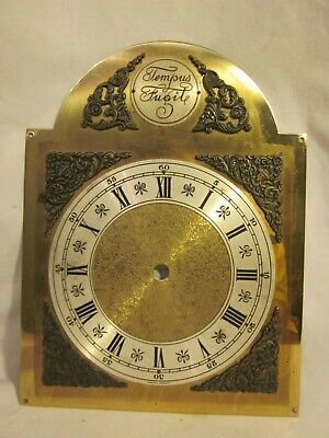 vintage grandfather clock face Tempus Fugit Western Germany Roman numeral ornate